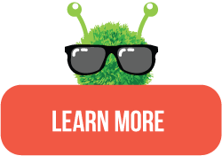 Learn More Button with Green Mascot