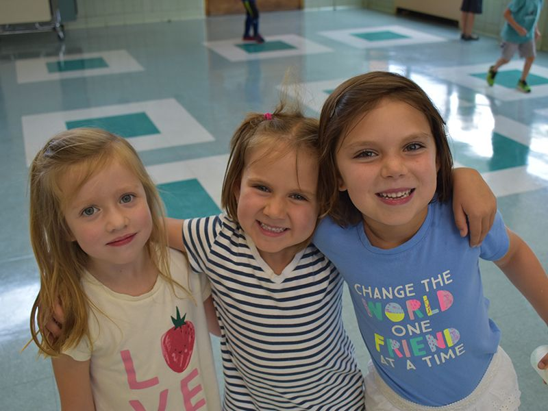 Three Girls Posing For Camera at Dream Big Summer Day Camp | Hilltop Denver and Greenwood Village